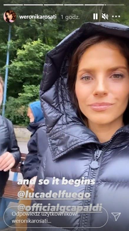 Rosati na planie międzynarodowej produkcji, https://www.instagram.com/weronikarosati/ /Instagram