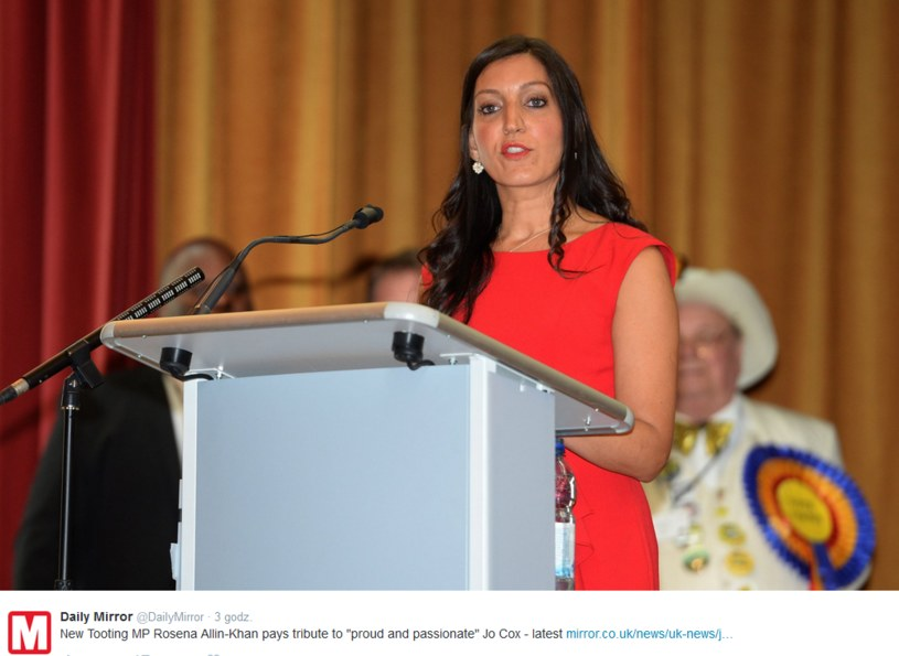 Rosena Allin-Khan z Partii Pracy /Twitter