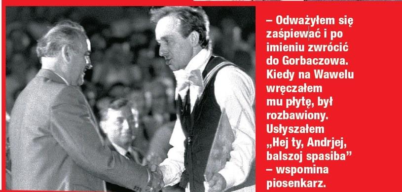 Rosiewicz i Michaił Gorbaczow /- /Dobry Tydzień