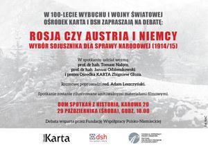 Rosja czy Austria i Niemcy. Zaproszenie na debatę Ośrodka KARTA