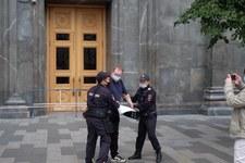 Rosja: Protest dziennikarzy. Zatrzymano dziewięć osób