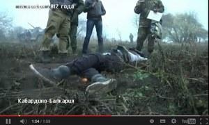 Rosja: Rzekome nagranie TV z Ukrainy pokazywało operację na Kaukazie