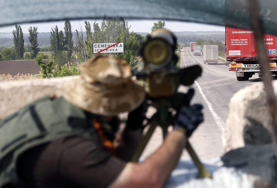 """Rosja wezwała Ukrainę do natychmiastowego zaprzestania """"operacji pacyfikacyjnej"""" /EPA/MAXIM SHIPENKOV /PAP/EPA"""
