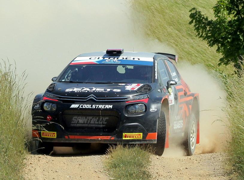 Rosjanie Aleksiej Łukianiuk i pilot Aleksiej Arnautow (Citroen C3 Rally2) / Tomasz Waszczuk    /PAP