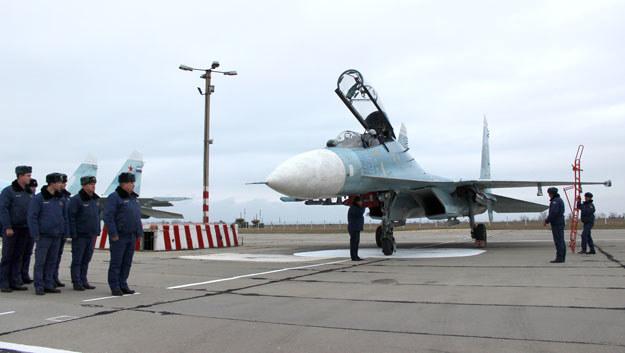 Rosjanie rozmieszczą na ternie Białorusi mysliwce Su-27 /AFP