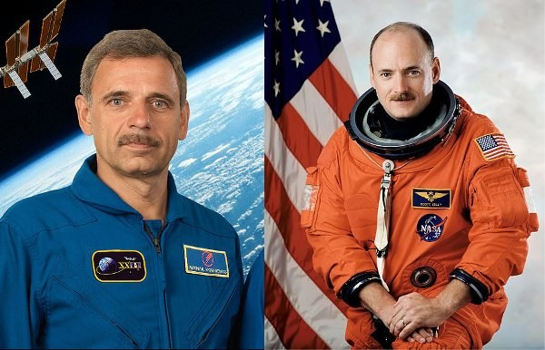 Rosjanin Michaił Kornijenko i Scott Kelly /NASA