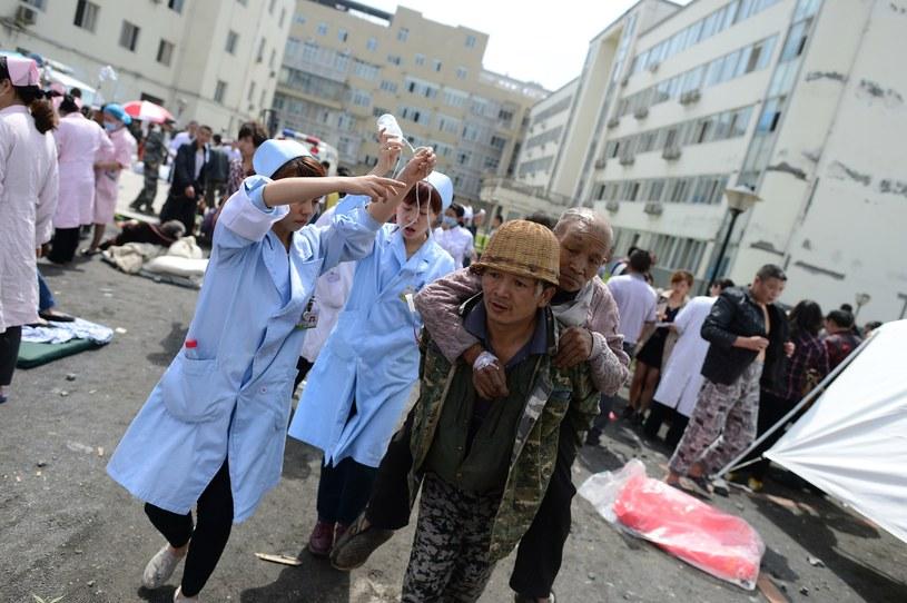 Rośnie liczba ofiar śmiertelnych trzęsienia ziemi w Chinach /AFP