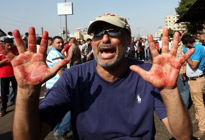 Rośnie liczba zabitych w trakcie piątkowych demonstracji w Egipcie /PAP/EPA