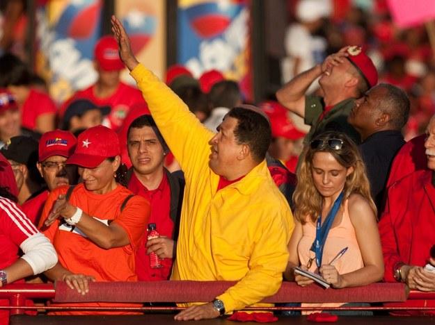 Rośnie przedwyborcze napięcie między zwolennikami Chaveza i kandydatami opozycji /PAP/EPA /PAP/EPA