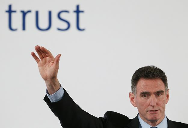 "Ross McEwan, prezes RBS, pod hasłem ""zaufanie"". Fot. Peter Macdiamid /Getty Images/Flash Press Media"
