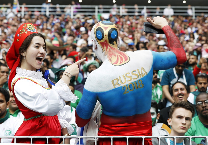Rosyjscy kibice mają powody do radości /PAP/EPA