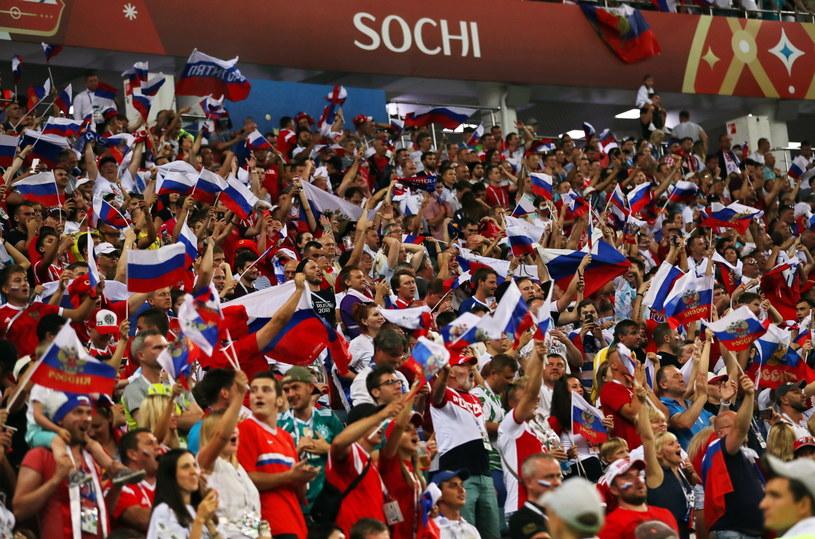 Rosyjscy kibice na trybunach w Soczi /PAP/EPA