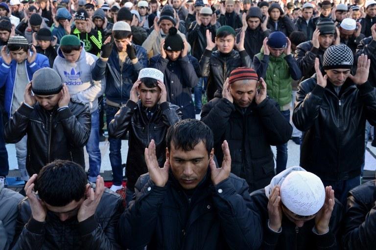 Rosyjscy muzułmanie w Moskwie, zdj. ilustracyjne /Kirill Kudryavtsev /AFP