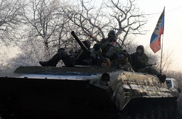 Rosyjscy separatyści w okolicach miasta Uglegorsk  fot. Vasily Maximov /AFP