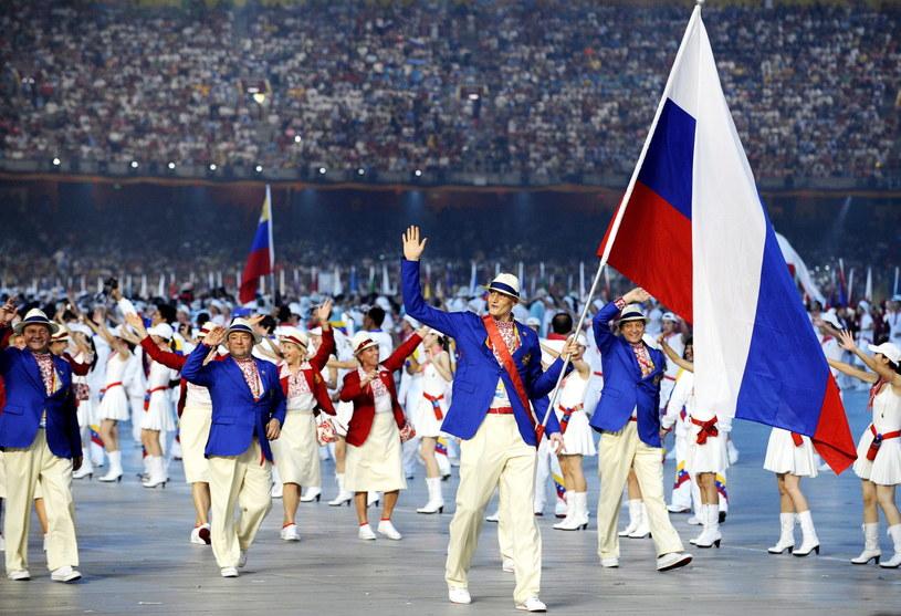 Rosyjscy sportowcy podczas igrzysk Pekinie /PAP/EPA