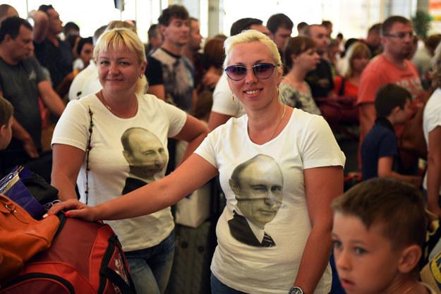 Rosyjscy turyści na lotnisku w Szarm el-Szejk /AFP