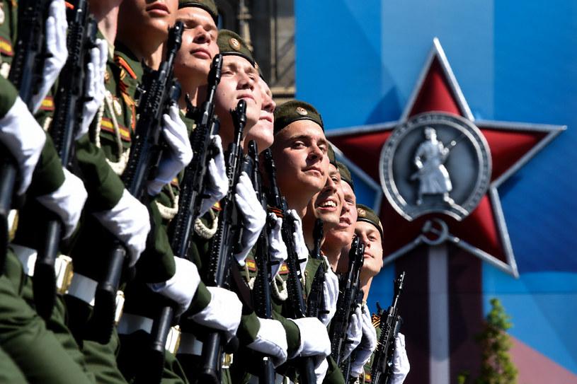 Rosyjscy żołnierze podczas defilady z okazji Dnia Zwycięstwa /AFP
