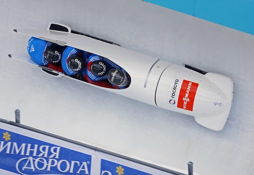 Rosyjska czwórka bobslejowa kierowana przez Aleksandra Zubkowa /AFP