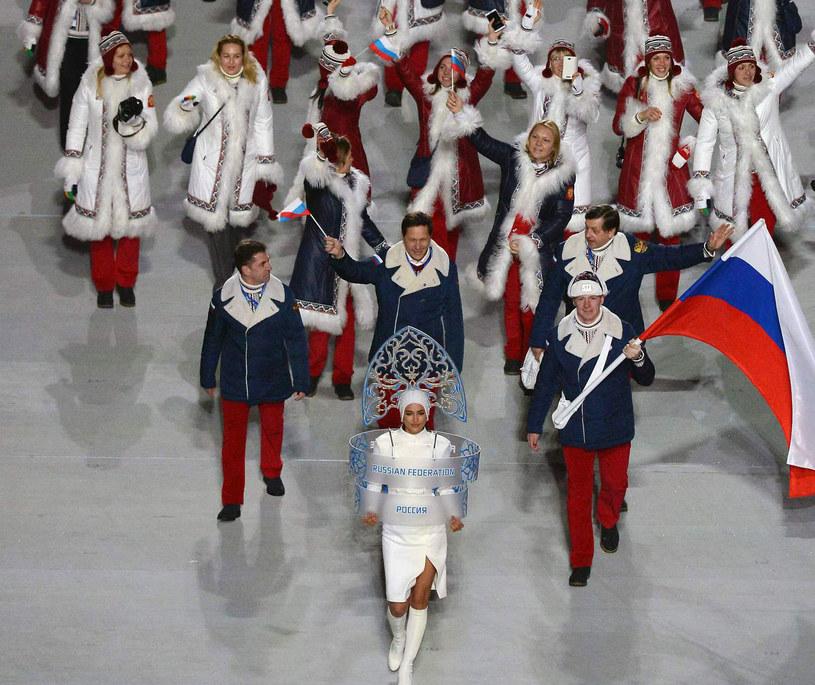 Rosyjska ekipa podczas otwarcia igrzysk w Soczi /AFP