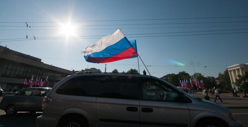 Rosyjska flaga na ulicach Krymu /Ukrafoto/East News /East News