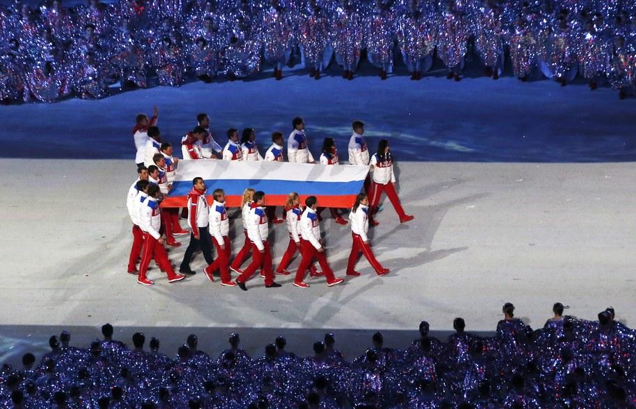 Rosyjska flaga /BARBARA WALTON /PAP/EPA