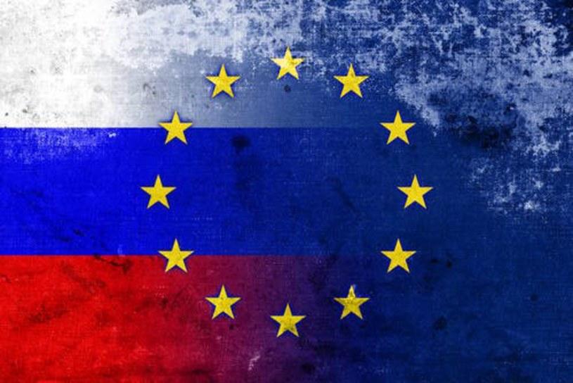 Rosyjska i Europejska flaga /Value Stock Images /East News