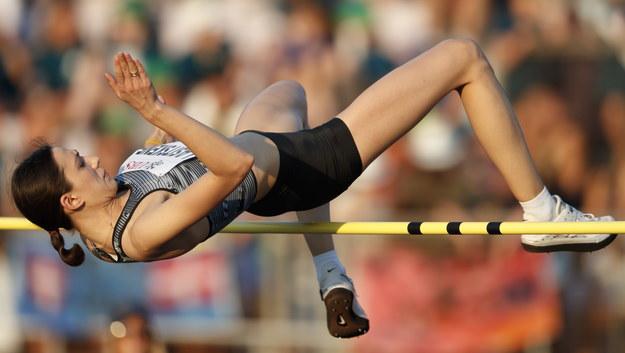 Rosyjska lekkoatletka Maria Laistskiene /VALENTIN FLAURAUD /PAP/EPA