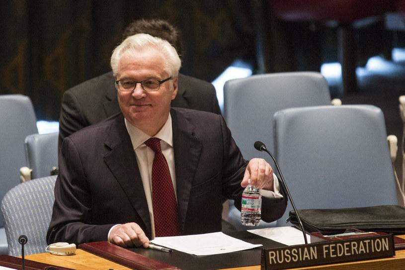 Rosyjski ambasador przy ONZ Witalij Czurkin /Andrew Burton /AFP/Getty
