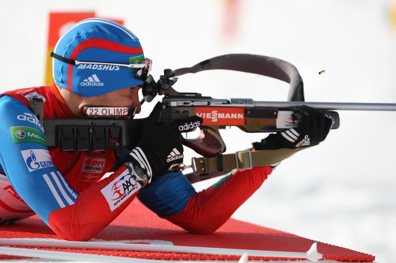 Rosyjski biathlonista Anton Szypulin /AFP