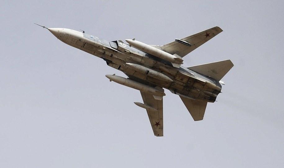 Rosyjski bombowiec Su-24 /PAP/ITAR-TASS. /PAP/EPA