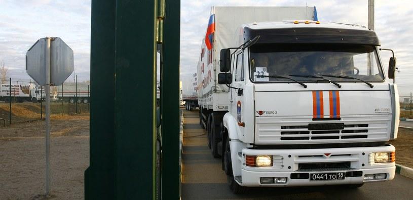 Rosyjski konwój humanitarny na granicy ukraińsko-rosyjskiej /AFP