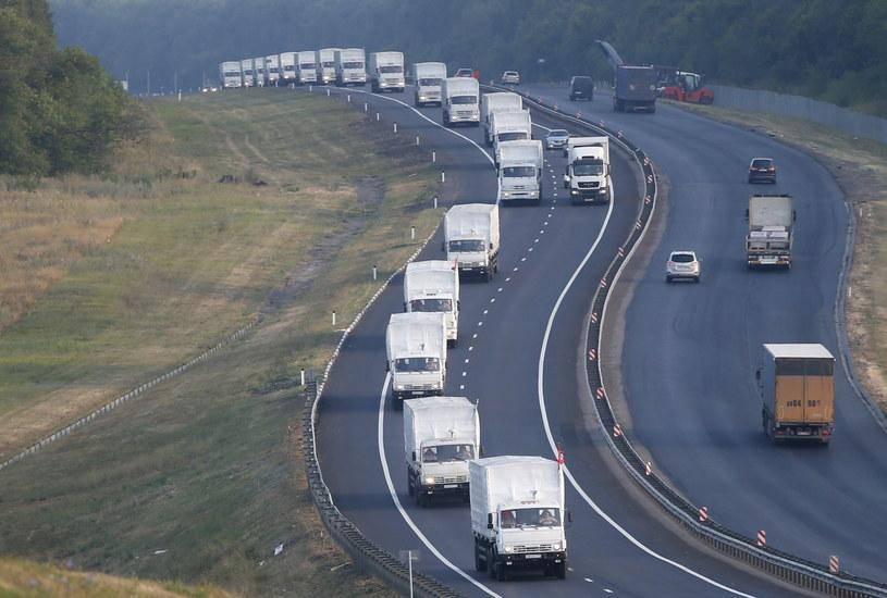 Rosyjski konwój zostanie zablokowany na granicy - twierdzą władze Ukrainy /PAP/EPA