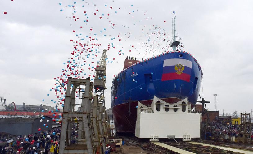 Rosyjski lodołamacz nowej generacji Ural /Olga Maltseva /AFP