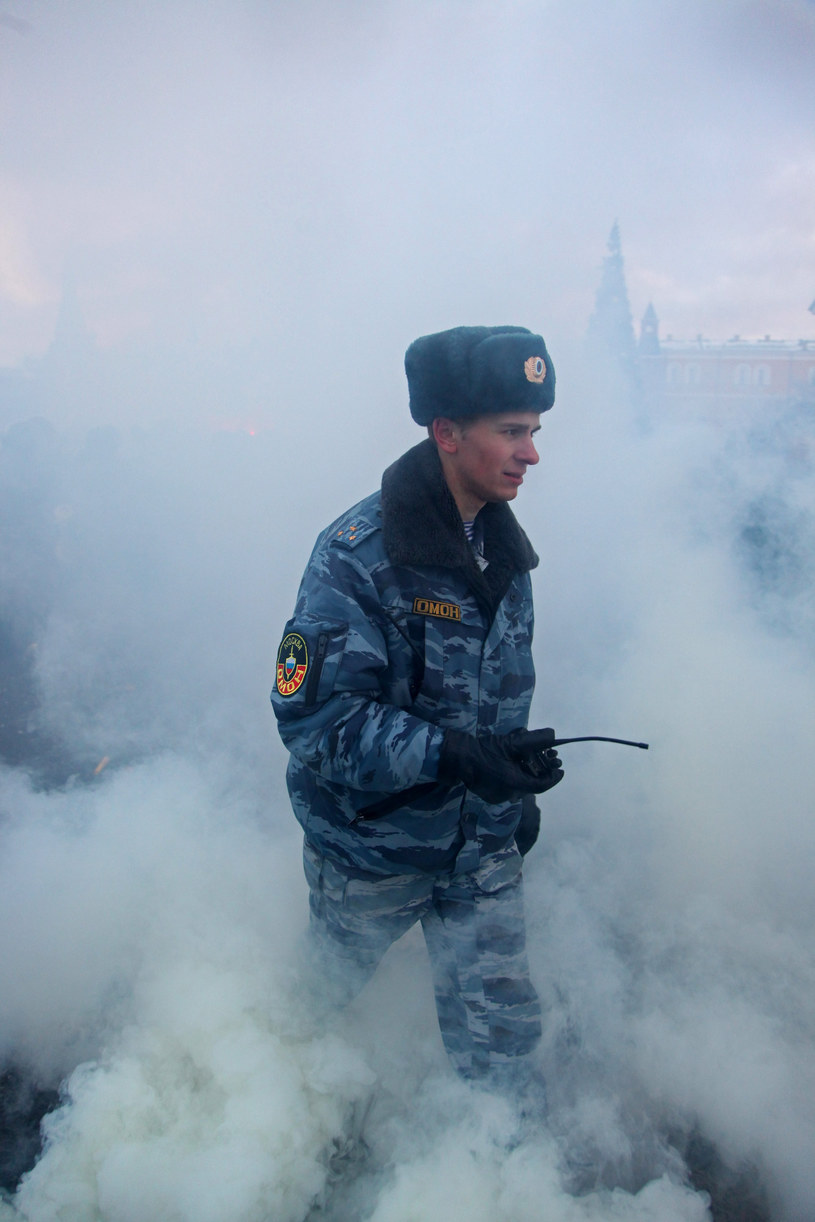 Rosyjski milicjant, zdjęcie ilustracyjne /East News