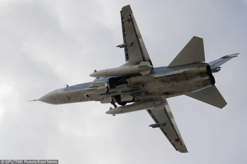 Rosyjski myśliwiec Su-24 /Dmitriy Vinogradov/SPUTNIK /East News