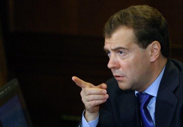 Rosyjski prezydent Dmitrij Miedwiediew uczynił z okiełznania szalejącej korupcji sprawę priorytetową /AFP