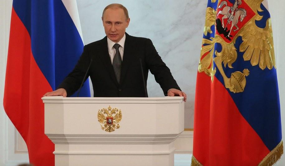Rosyjski prezydent przemawia na Kremlu /Sergei Ilnitsky /PAP/EPA