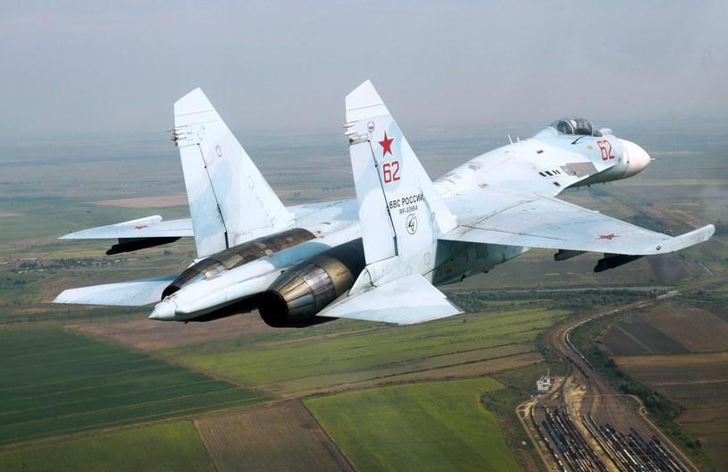 Rosyjski samolot Su-27 /Vitaliy Timkiv/Sputnik  /East News