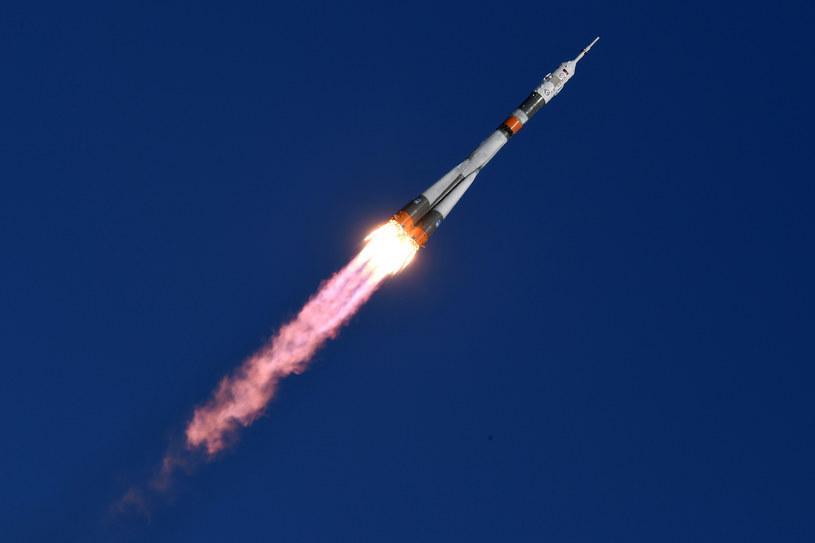 Rosyjski statek kosmiczny Sojuz MS-07 /Kirill Kudryavtsev /AFP