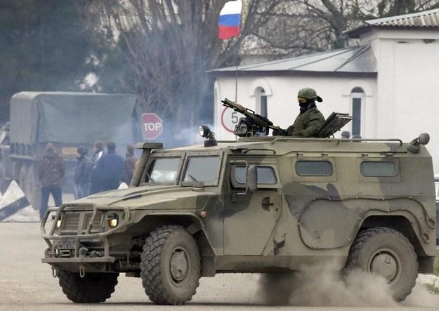 Rosyjski żołnierz na Krymie /MAXIM SHIPENKOV    /PAP/EPA