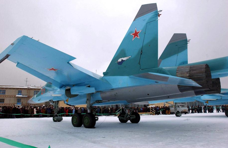 Rosyjskie bombowce Su-34 [zdj. ilustracyjne] /ITAR-TASS / Vladimir Zinin /PAP/EPA