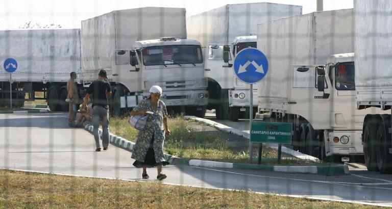 Rosyjskie ciężarówki /AFP
