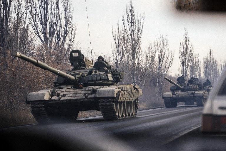 Rosyjskie czołgi /AFP