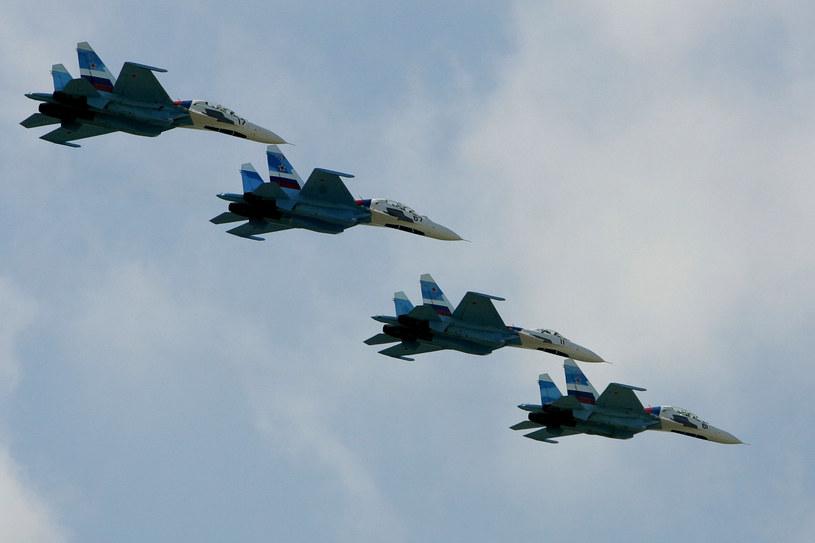 Rosyjskie myśliwce Su-27 /AFP