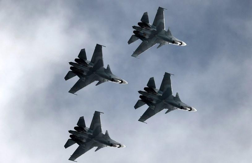 Rosyjskie myśliwce typu Su-30SM /MAKSIM BLINOV /East News