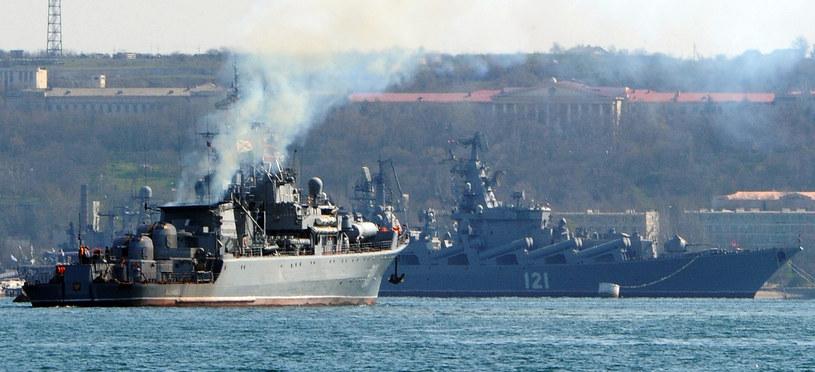 Rosyjskie okręty na Krymie /AFP