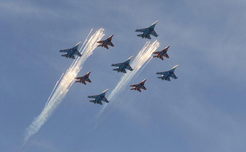 Rosyjskie Su-27 /PAP/EPA