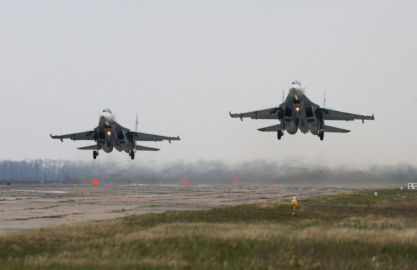 Rosyjskie Su-27 /Vitaly Timkiv/SPUTNIK Russia /East News