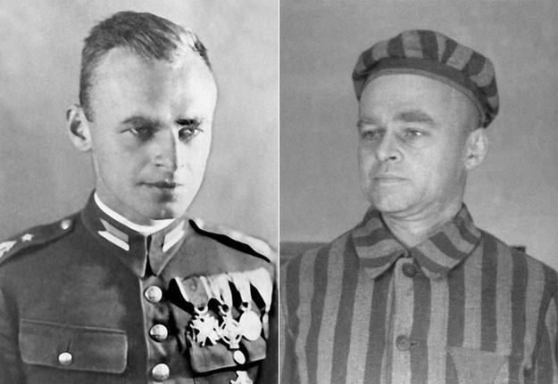 Rotmistrz Witold Pilecki - w mundurze 2. Korpusu Polskiego i w obozowym pasiaku w KL Auschwitz /Laski Diffusion /East News