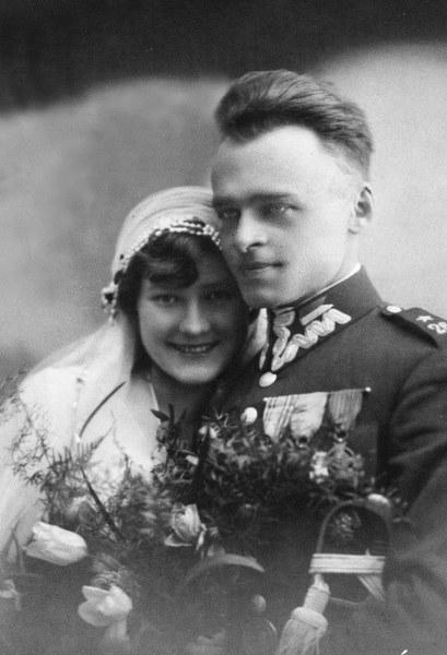 Rotmistrz Witold Pilecki z żoną Marią, 1931